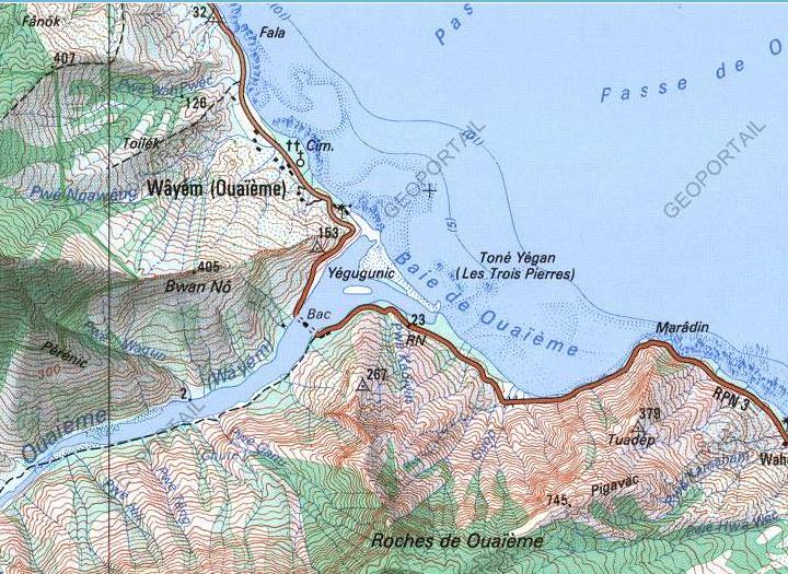 Bac de la Ouaième - Carte Géoportail