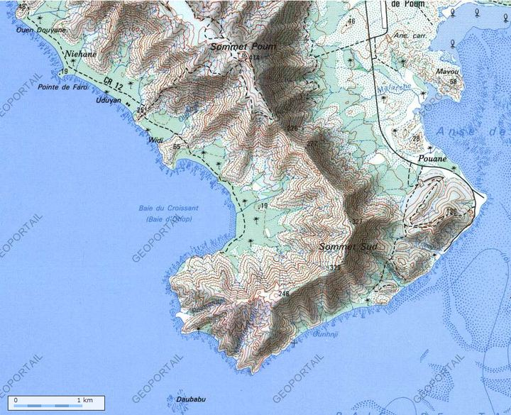 Carte de la Baie du Croissant (Ohop) - Géoportail