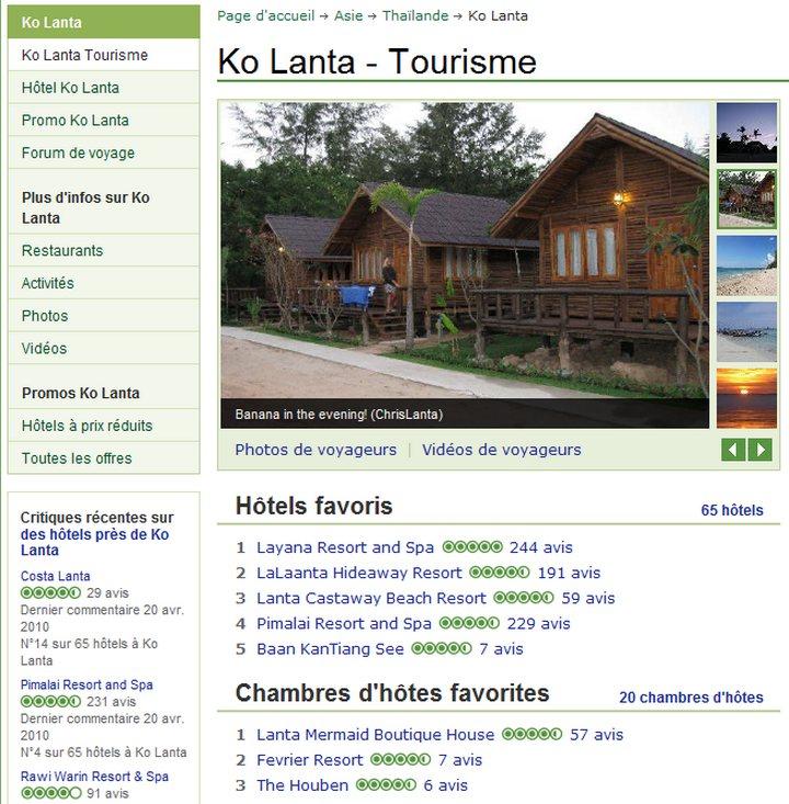 Tourisme à Ko Lanta avec Tripadvisor