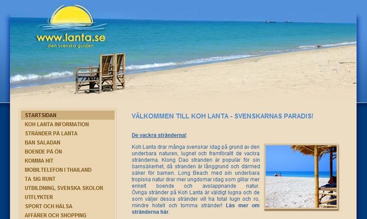 Lanta.se site suédois consacré à l'île de Koh Lanta