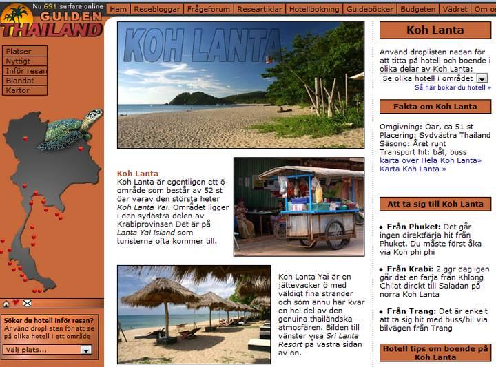 thailandguiden.se Site Internet suédois consacré à la Thaïlande